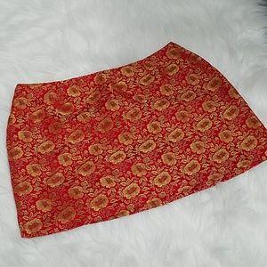 Asian-inspired mini skirt
